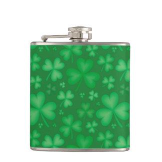 Irische Kleeblatt-Muster-Flasche Flachmann