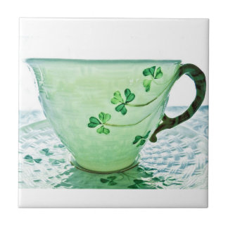Irische Kleeblatt-Vintage Tee-Schale Fliese