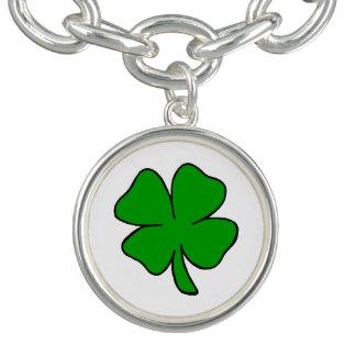 Irische Kleeblätter Charm Armband