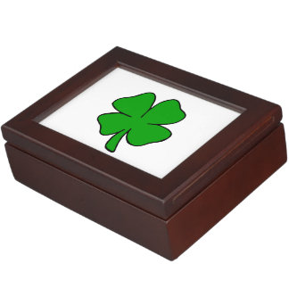 Irische Kleeblätter Erinnerungsdose