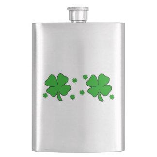 Irische Kleeblätter Flachmann