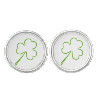 Irische Kleeblätter Manschetten Knöpfe