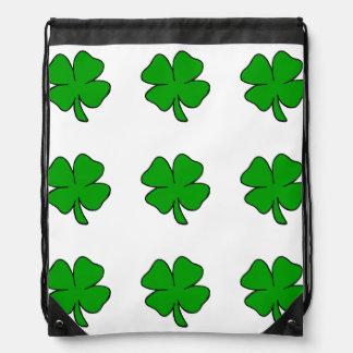 Irische Kleeblätter Turnbeutel