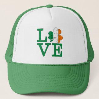 Irische Liebe beunruhigten Tricolor Truckerkappe