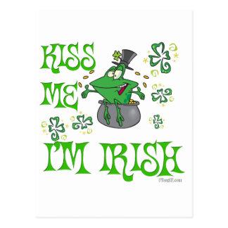 Irische lustige küssen mich postkarte