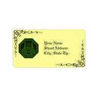 Irische Lyre-Kranz-u. Rebe-Adressen-Etiketten