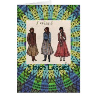 Irische Mädchen Karte