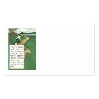 Irische Mädchen-Ziegen-Weide Visitenkarten