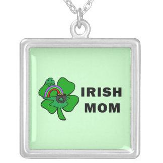 Irische Mamma Versilberte Kette