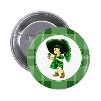 Irische Prinzessin. St Patrick Button