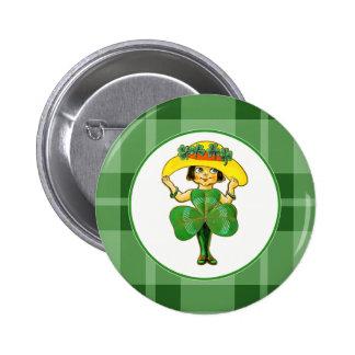 Irische Prinzessin. St Patrick Anstecknadelbuttons