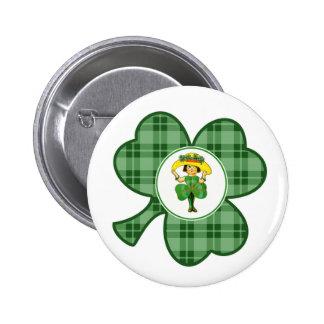 Irische Prinzessin. St Patrick Runder Button 5,1 Cm