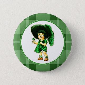 Irische Prinzessin. St Patrick Runder Button 5,7 Cm