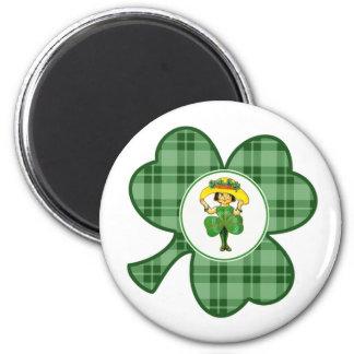 Irische Prinzessin. St Patrick Runder Magnet 5,7 Cm