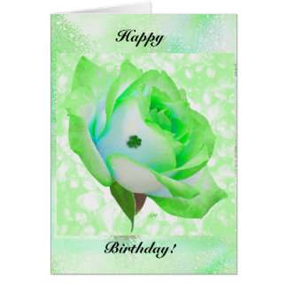 Irische Rose und Geburtstag! Karte