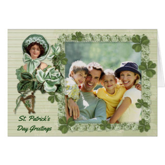 Irische Rosen-Foto-Grüße Grußkarte