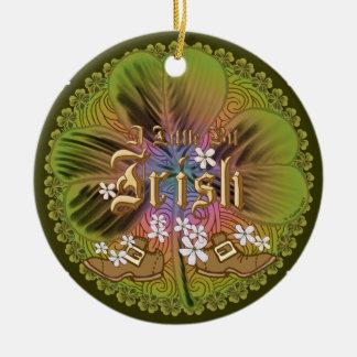Irische runde Nameverzierung des Stückchen O Rundes Keramik Ornament
