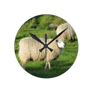 Irische Schafe Runde Wanduhr