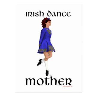 Irische Schritt-Tanz-Mutter - blauer harter Schuh Postkarte