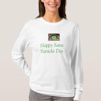 Irische Spitze Augen-St. Patricks Tages T-Shirt