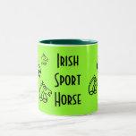 Irische Sport-Pferdekaffee-Tasse