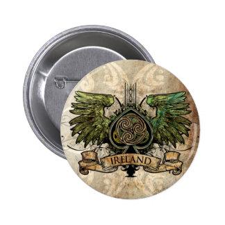 Irische Tätowierung städtisches Keychain keltische Runder Button 5,7 Cm