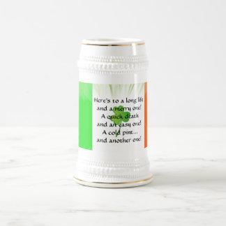 Irische Toaststein-Tasse Bierglas