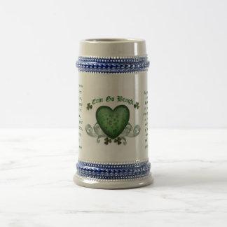 Irische trinkende Tasse Erin gehen bragh Irenherz