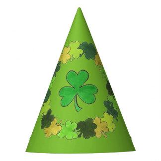 Irischen grünen Kleeblatt-Klee-St Patrick Tag Partyhütchen
