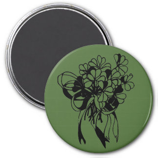 Irischen Kleeblatt-Blumenstrauß-St Patrick Runder Magnet 7,6 Cm