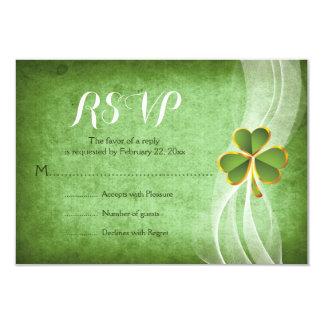 Irischen Kleegrün St Patrick Tageshochzeit UAWG Karte