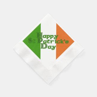 Irischen Tricolor St Patrick Tag Servietten