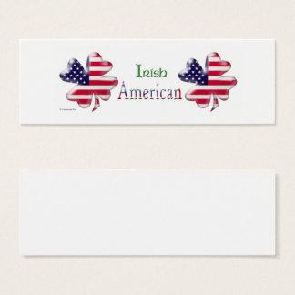 Irischer Amerikaner Mini-Visitenkarten