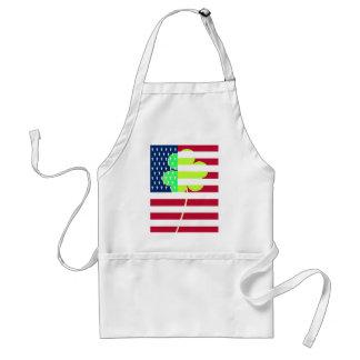 Irischer amerikanische Flaggen-Kleeblatt-Klee St Schürze