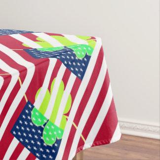 Irischer amerikanische Flaggen-Kleeblatt-Klee St Tischdecke