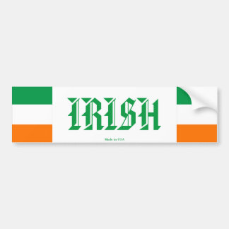 Irischer Autoaufkleber