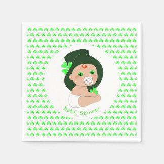 Irischer Baby-Kobold-glückliche Serviette