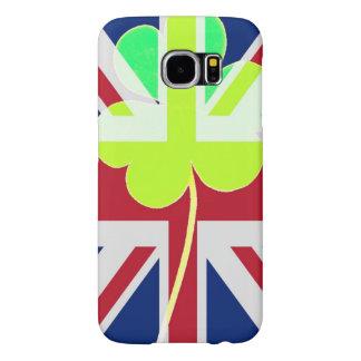 Irischer britischer Flaggen-Kleeblatt-Klee St