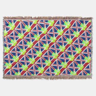 Irischer britischer Flaggen-Kleeblatt-Klee St Decke