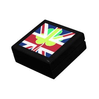 Irischer britischer Flaggen-Kleeblatt-Klee St Geschenkbox