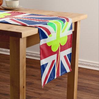 Irischer britischer Flaggen-Kleeblatt-Klee St Großer Tischläufer