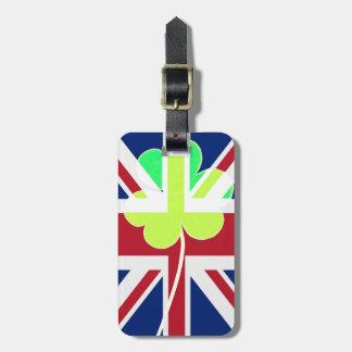 Irischer britischer Flaggen-Kleeblatt-Klee St Kofferanhänger