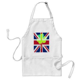 Irischer britischer Flaggen-Kleeblatt-Klee St Schürze