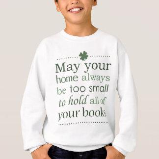 Irischer Buch-Liebhaber-Spaß-Segen Sweatshirt