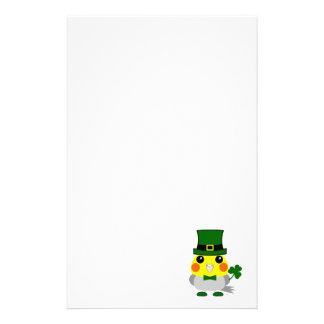 Irischer Cockatiel gekleidet für St Patrick Tag Briefpapier