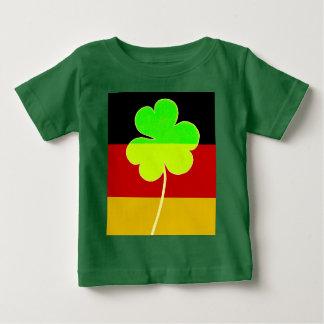 Irischer deutscher Flaggen-Kleeblatt-Klee-St- Baby T-shirt
