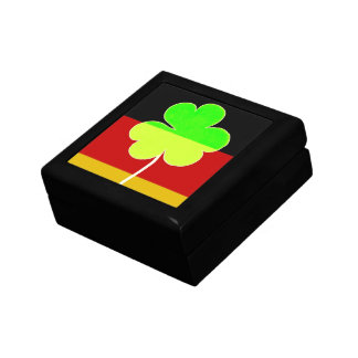 Irischer deutscher Flaggen-Kleeblatt-Klee-St- Geschenkbox
