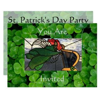 Irischer Engel im Buntglas auf Klee Karte