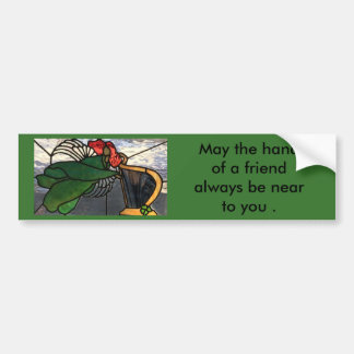 Irischer Engel im Buntglas Autoaufkleber
