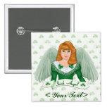 Irischer Engel und Fahne Buttons